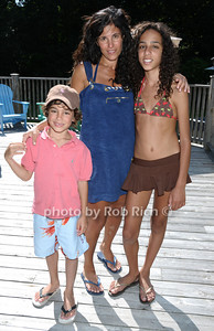 Southampton- July 12:(l-r)  Damien Chafe, Naz  Chafe, Arabelle Chafe   attend the Poolside Lawn party at the Southampton Inn on Sunday, July 12, 2009.    (photo by Rob Rich/SocietyAllure.com)