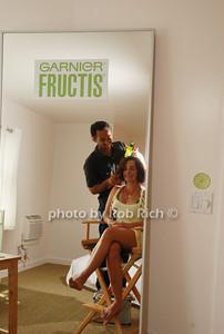 Savannah Buffett and Danny DiMauro at the Maybelline: New York & Garnier Surf Salon