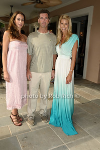 July 11,2009:(l-r)  Jamie Jo Harris,Justin Mitchell, Beth Ostrosky  at the Wildslife Rescue of the Hamptons cocktail kickoff party at the Social Life Estate in Watermill    on July 11, 2009. photo by Rob Rich/SocietyAllure.com