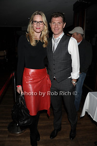 """Stephanie March and Bobby Flay attend the reception for the screening of """"The Artist"""" at 75 Main restaurant(October 15, 2011)."""