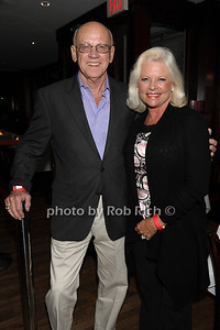 """George Quick and Elaine Dickerson attend the reception for the screening of """"The Artist"""" at 75 Main restaurant(October 15, 2011)."""