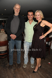 """James Cromwell, Zach Erden, and Penelope Ann Miller   attend the reception for the screening of """"The Artist"""" at 75 Main restaurant(October 15, 2011)."""