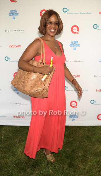 Gayle King<br /> attend Super Saturday 14to benefit the Ovarian Cander Research fund  at Nova's Ark Project (July 30, 2011)