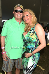 Steve Boxer, Michelle Walker attend the Bridgehampton Polo Challenge at Two Trees Farm (July 30, 2011)