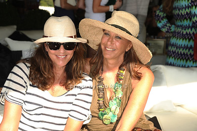 Kelly Klein and Donna Karan attend the Bridgehampton Polo Challenge at Two Trees Farm (July 30, 2011)