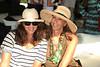 Kelly Klein and Donna Karan attend the Bridgehampton Polo Challenge at Two Trees Farm (July 30, 2011)