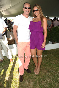Josh Guberman and Morgan Shara attend the Bridgehampton Polo Challenge at Two Trees Farm (July 30, 2011)