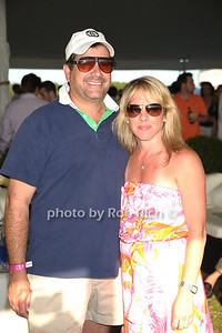 Charles Regensburg and Regina Quinan attend the Bridgehampton Polo Challenge at Two Trees Farm (July 30, 2011)