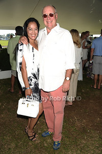Cassandra Seidenfeld Lyster and Robert Lyster attend the Bridgehampton Polo Challenge at Two Trees Farm (July 30, 2011)