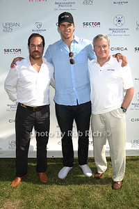Chris Del Gatto, Kris Humphries, and Phil Schwetz attend the Bridgehampton Polo Challenge at Two Trees Farm (July 30, 2011)