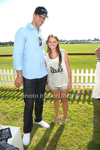 Kris Humphries poses with Isabel Jordan at the Bridgehampton Polo Challenge at Two Trees Farm (July 30, 2011)