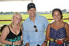 Melissa Meyer, Kris  Humphries, and Alyx Henry attend the Bridgehampton Polo Challenge at Two Trees Farm (July 30, 2011)