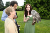 Amanda Jollon with Barred Owl<br /> photo by Rob Rich © 2009 robwayne1@aol.com 516-676-3939