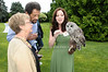 Amanda Jollon with Barred Owl<br /> photo by Rob Rich © 2009 robwayne1@aol.com 516-676-3939