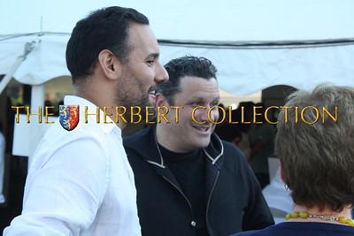 Isaac Mizrahi greets guests