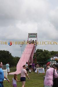 Slide at 22nd Annual Wild, Wild West Carnival. Bridgehampton, NY