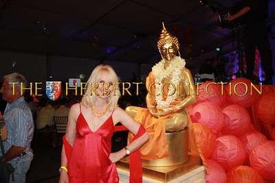 Sara Herbert-Galloway with a live Buddah