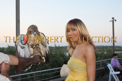 Red tailed hawk and Tia Walker