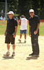 Police Commissioner Ray Kelly an Matt Lauer play  umpire at the Artists& Writers 65th annual softball game  in East Hampton  to raise money for East End Hospice. 8-17-13.photo by Rob Rich/SocietyAllure.com © 2013 robwayne1@aol.com 516-676-3939