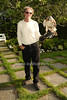 Nick Marzano and Sonia the Adult female Redtail Hawk<br /> photo by Rob Rich © 2013 robwayne1@aol.com 516-676-3939