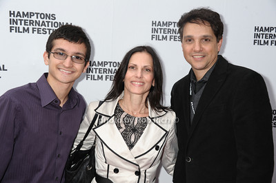 "Daniel Macchio, Phyllis Macchio, and Ralph Macchio attend the HIFF screening of ""Connections"" at the UA cinema in East Hampton. (October 11, 2013) photo by Rob Rich/SocietyAllure.com © 2013 robwayne1@aol.com 516-676-3939"
