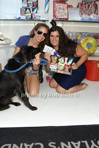Dylan Lauren and her dog Jersey, Dr.Cindy Bressler and The Hamptons Cookie Collection photo by Rob Rich/SocietyAllure.com © 2013 robwayne1@aol.com 516-676-3939