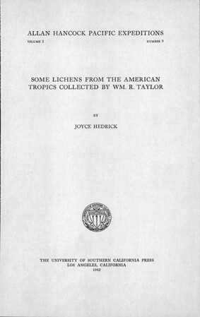 Some lichens from the American tropics collected by Wm. R. Taylor