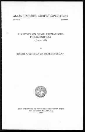 A report on some arenaceous Foraminifera