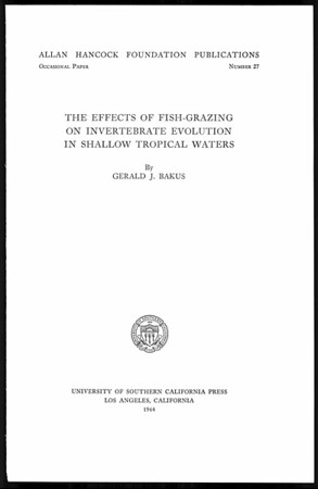 The effects of fish-grazing on invertebrate evolution in shallow tropical waters