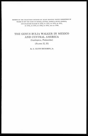 The genus Bulia Walker in Mexico and Central America (Lepidoptera, Philaenidae)