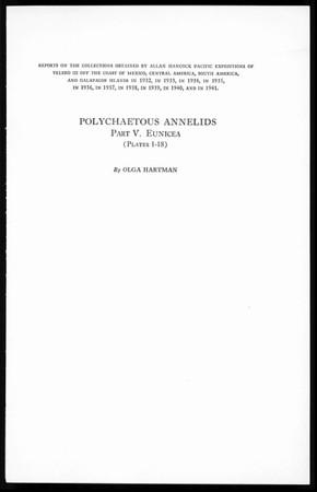 Polychaetous annelids