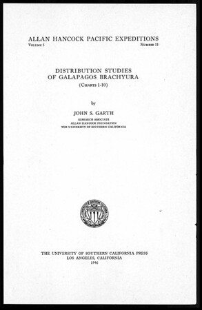 Distribution studies of Galapagos Brachyura