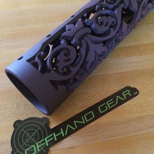 Fleur D Lis hand guard in Blackberry Pearl Cerakote