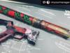 Rose Vine hadn gaurd in custom multi color finish