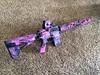 Fleur D Lis handguard in custom pink and purple Kryptek finish