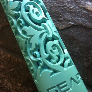 Fleur D Lis Hand Guard in Tiffany / Robin Egg Blue