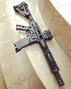 Rose vine hand guard on Sharp Bros Jack Lower, Black / submitted by charlaayyy_varga2