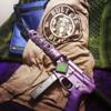 "Fleur D Lis 9"" hand guard in Custom Blackberry Pearl"