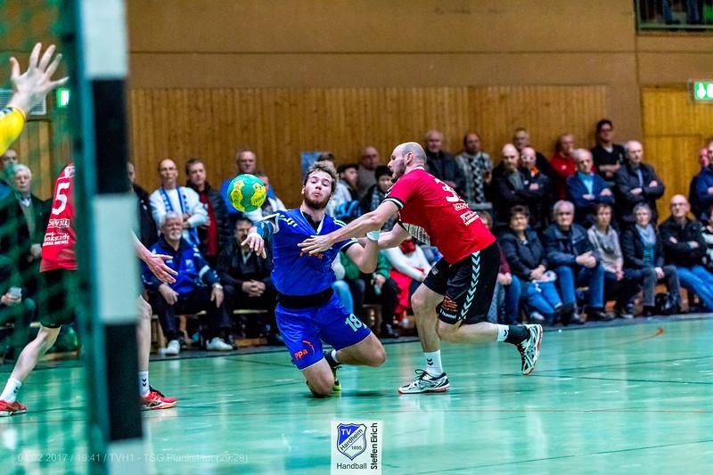 Handball Badenliga: TVH1-TSG Plankstadt (29:29)