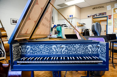 Music department harpsichord.