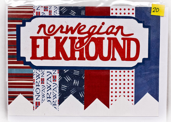 Handmade Norwegian Elkhound Cards