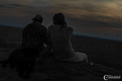 A Couple Taking in the Sunset - Lookout Mountain