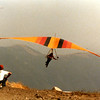 The southeast launch at Crestline, CA for the Hang Gliding Nationals.