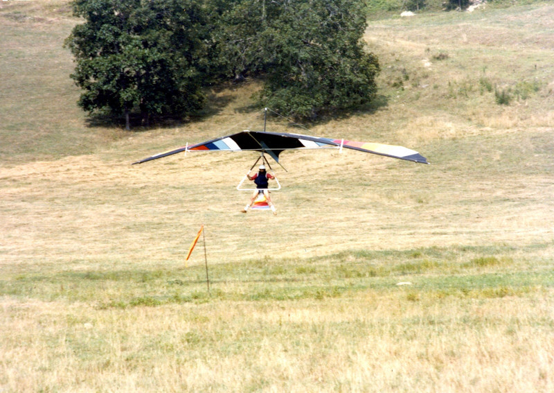 """This was a landing using an experimental """"air brake"""" that worked well."""