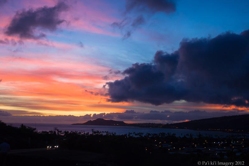 Sunset at Hawaii Kai Lookout