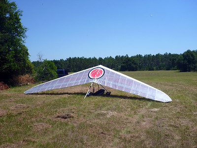 Day 1 - My glider at the end of the staging cue
