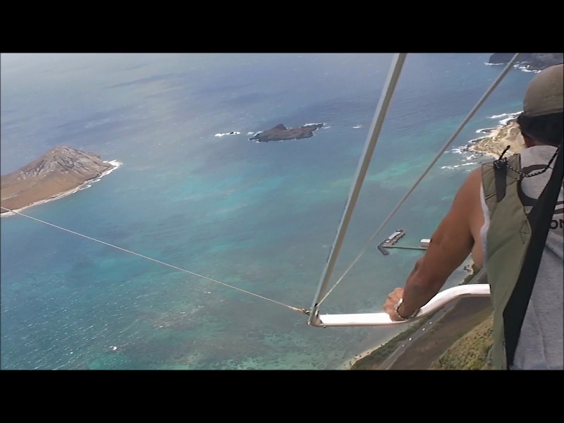 Dave flies to Rabbit 06162012,hang gliding