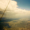 1990 U.S. Hang Gliding National Championships - One of the many daily thunderstorms that we'd have to fly through.