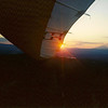 Hat Creek - Glass off flight at sunset.
