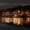 Boathouse Summer Night<br /> <br /> Night view of Boathouse Row from pier near the waterworks.  September 7, 2013.